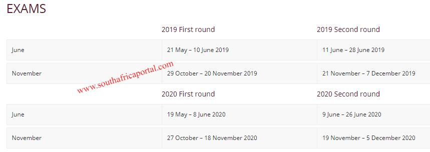 Stellenbosch University Examinations Dates 2019-2020