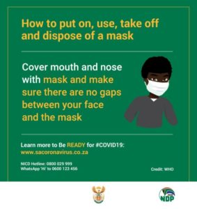 take off and dispose of a mask