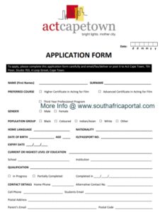 ACT Cape Town Online Application