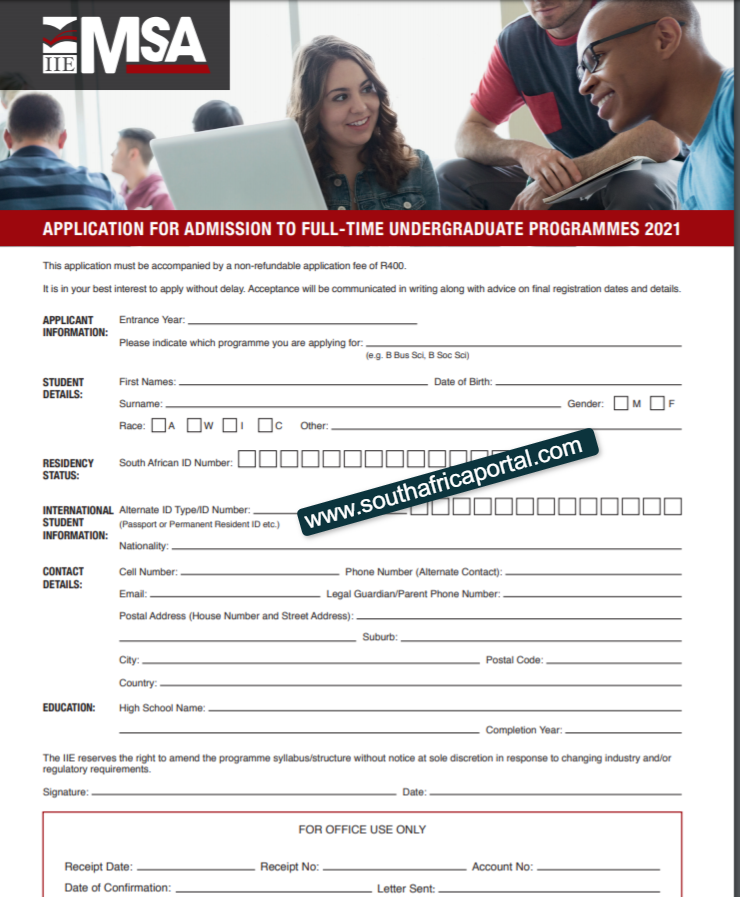 IIE MSA Application Form