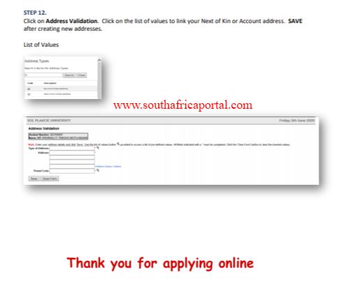 Sol Plaatje University Online Application 2021