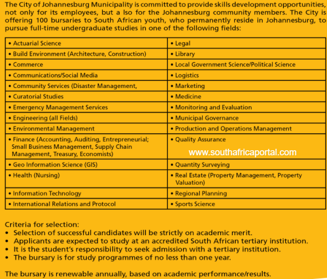 Johannesburg City Bursary