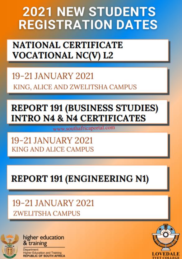 Lovedale TVET College Registration