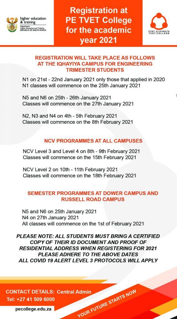 Port Elizabeth TVET College Registration